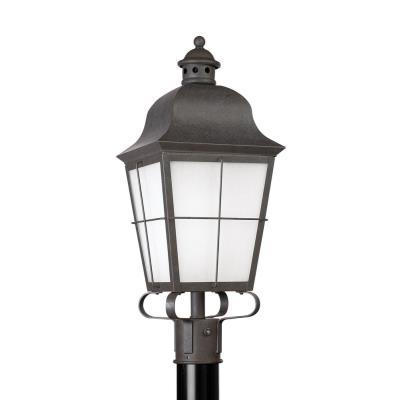 Sea Gull Lighting 82973BL-46 Chatham - One Light Outdoor Post Lantern