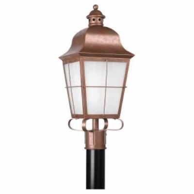 Sea Gull Lighting 82973PBLE Chatham - One Light Post Lantern