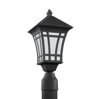 Sea Gull Lighting 89231BL-12 Herrington - One Light Outdoor Post Lantern