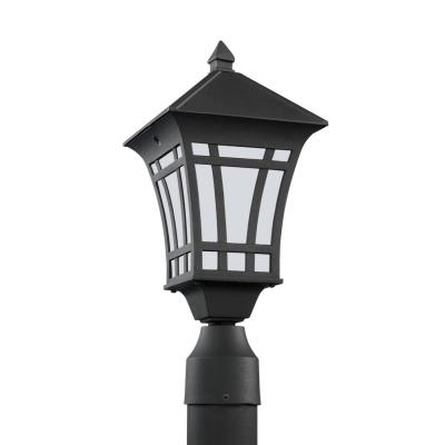 Sea Gull Lighting 89231BL-12 Herrington - One Light Outdoor Post Lantern