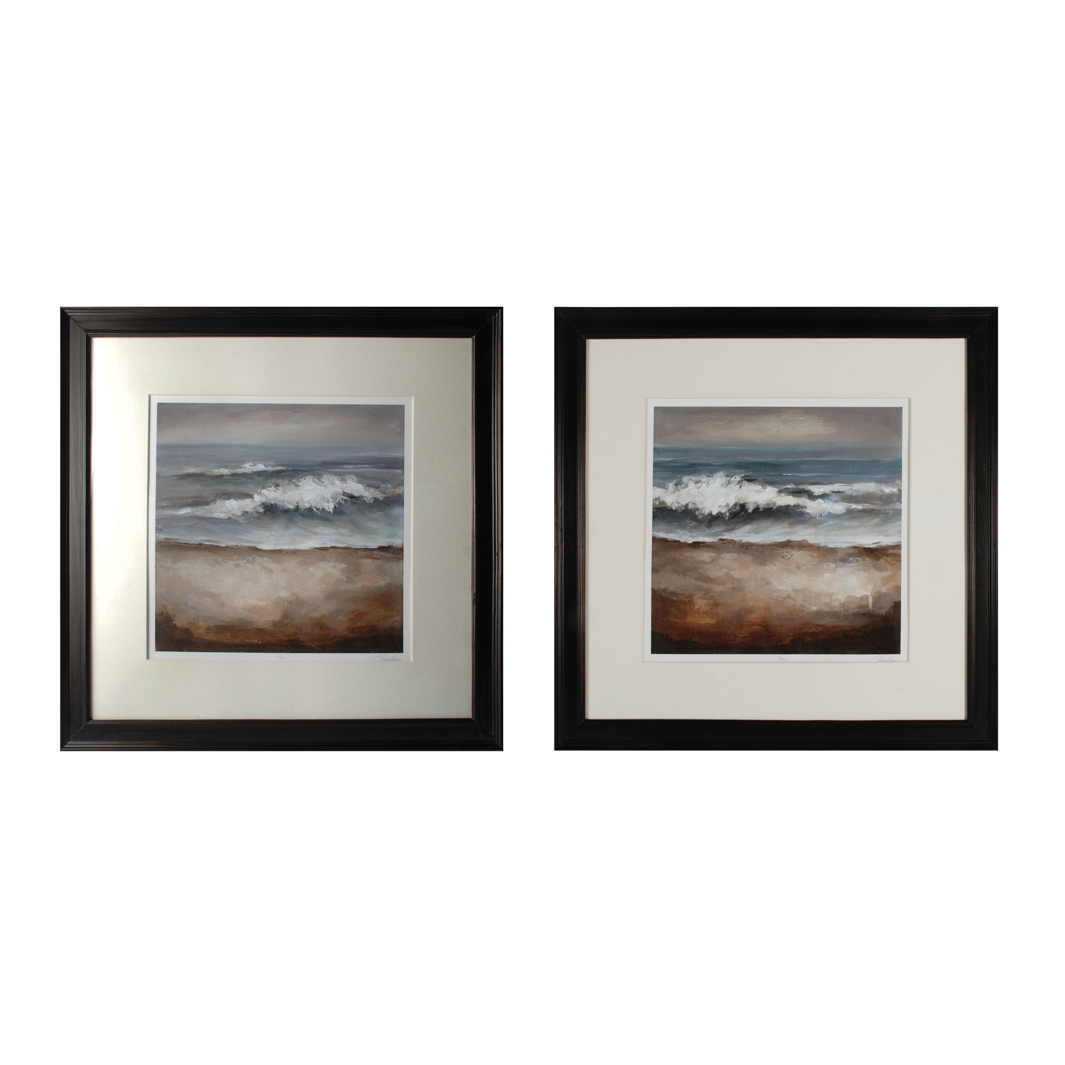 Sterling Industries-10213-S2-Once In A While  Tears From The Sea - 29 Inch Wall Art  Black Finish