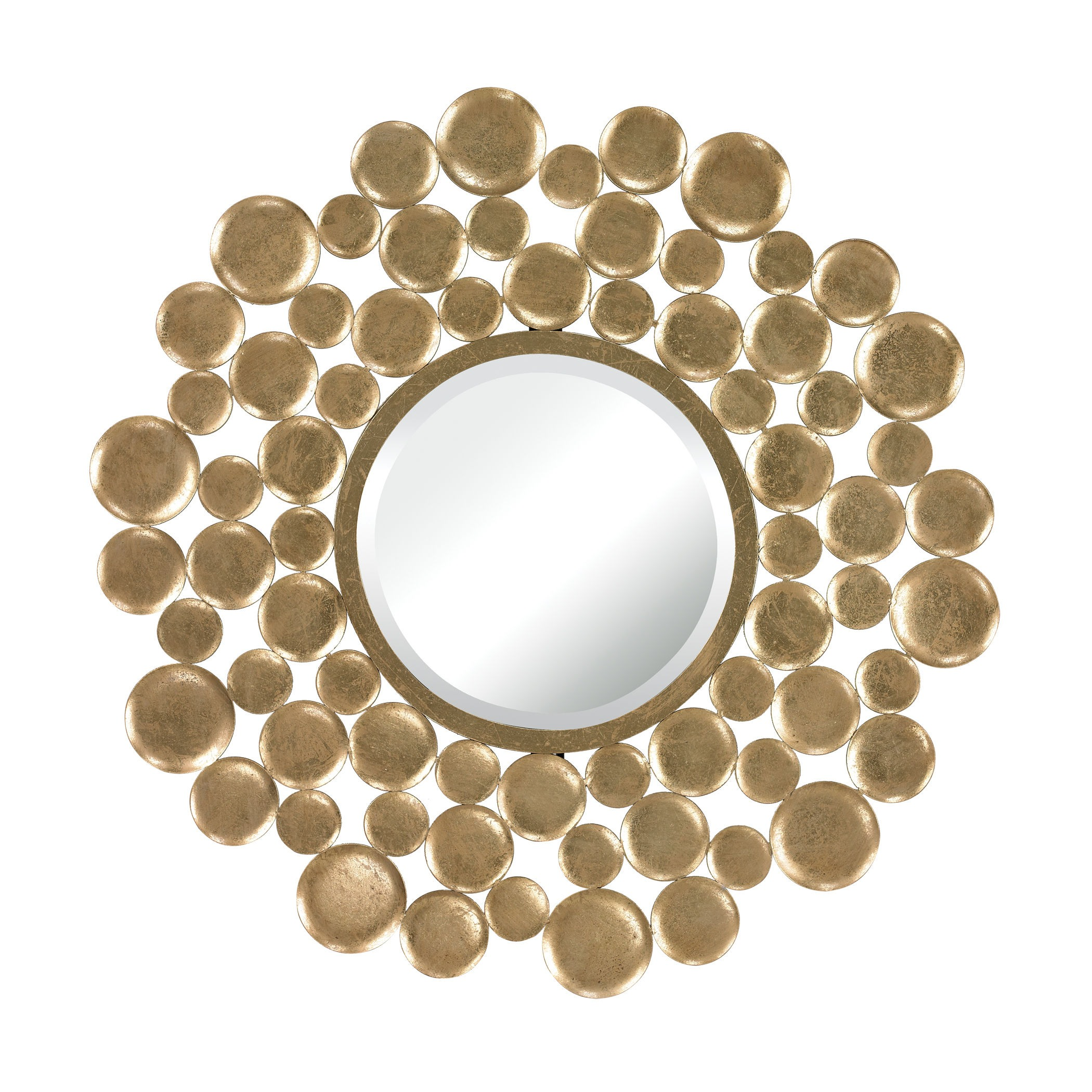 Sterling Industries-132-003-Beattystown - 32 Inch Decorative Mirror  Gold Leaf Finish with Clear Glass