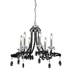Sterling Industries-144-030-Barley - Six Light Mini Chandelier  Chrome Finish