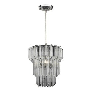 Sterling Industries-144-034-One Light Pendant  Chrome Finish