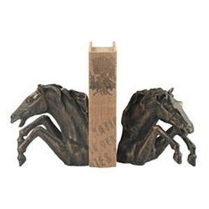 Sterling Industries-148-007/S2-Bascule - 13 Inch Bookend (Set of 2)  Bronze/Antique Dusting Finish