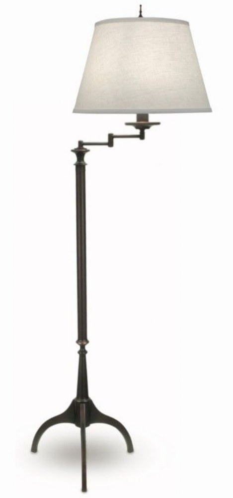 Stiffel-SWFL-A902-1282-OB-69 Inch One Light Swing Arm Floor Lamp  Oxidized Bronze Finish with Cream Aberdeen Shade