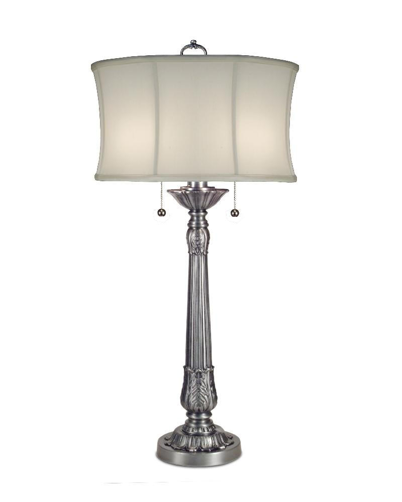 Stiffel-TL-6362-6719-PW-One Light Table Lamp  Pewter Finish with Off White Camelot Shade