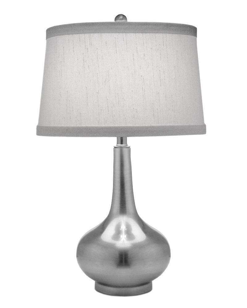 Stiffel-TL-6780-AN-One Light Table Lamp  Antique Nickel Finish with Global White Shade
