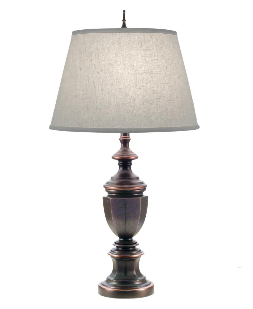 Stiffel-TL-A623-A625-OB-One Light Table Lamp  Oxidized Bronze Finish with Cream Aberdeen Shade