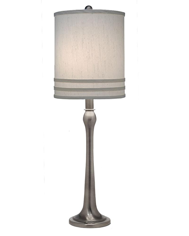 Stiffel-TL-A848-AN-One Light Table Lamp  Antique Nickel Finish with Global White Shade