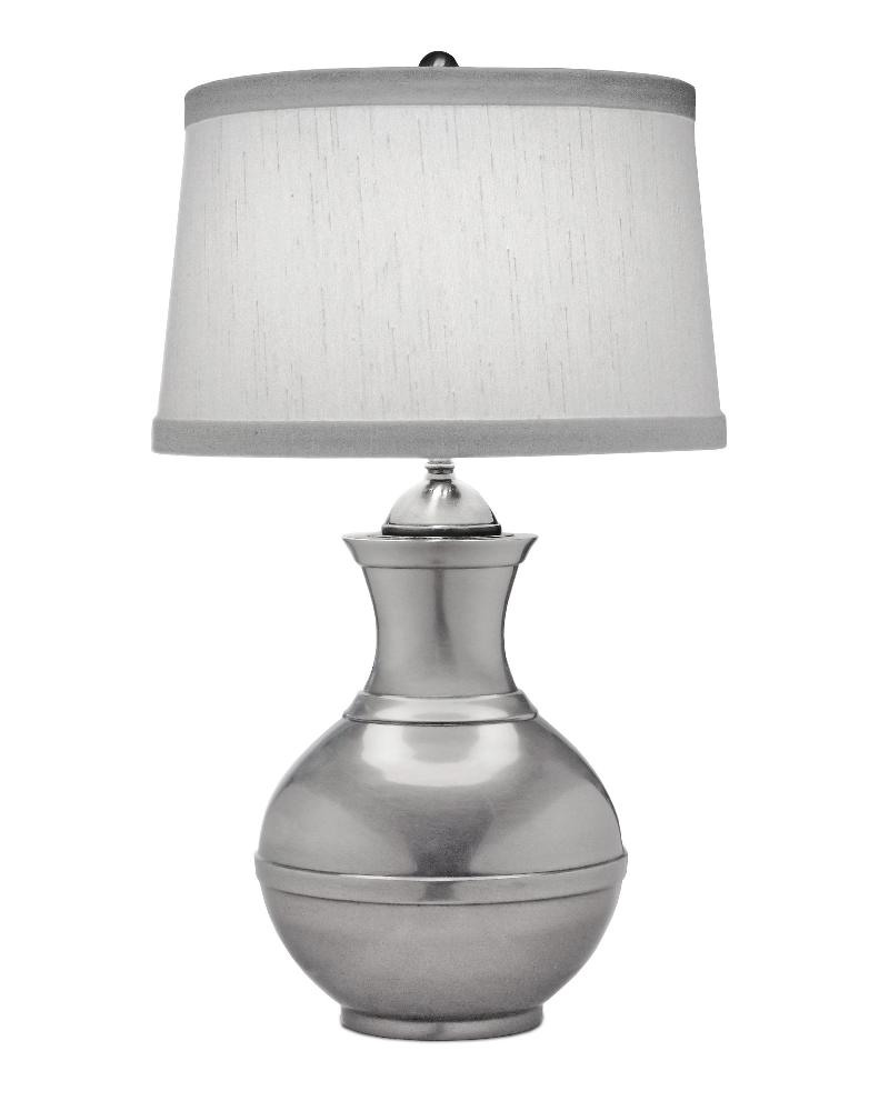 Stiffel-TL-N6553-AN-One Light Table Lamp  Antique Nickel Finish with Global White Shade
