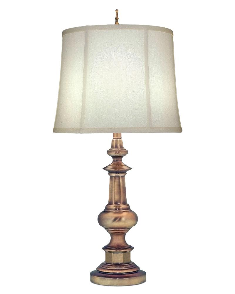 Stiffel-TL-N6561-AB-One Light Table Lamp  Antique Brass Finish with Ivory Shadow Shade
