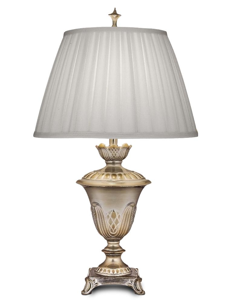 Stiffel-TL-N8469-MS-One Light Table Lamp  Milano Silver Finish with Ivory Shadow Box Shade