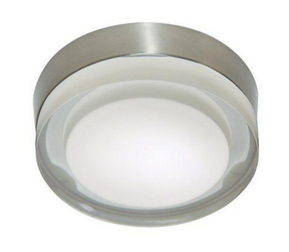 Stone Lighting-CL507FRSNDOB12-Rondo - 6 Inch 10W 1 LED Flush Mount  Satin Nickel Finish with Frosted Glass