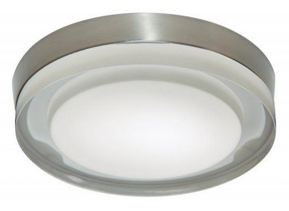 Stone Lighting-CL509FRSNDOB24-Rondo - 11 Inch 10W 1 LED Flush Mount  Satin Nickel Finish with Frosted Glass