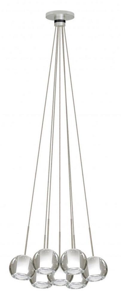 Stone Lighting-CS092FRPNX2-Cluster 7 - Seven Light 10W Chandelier  Polished Nickel Finish