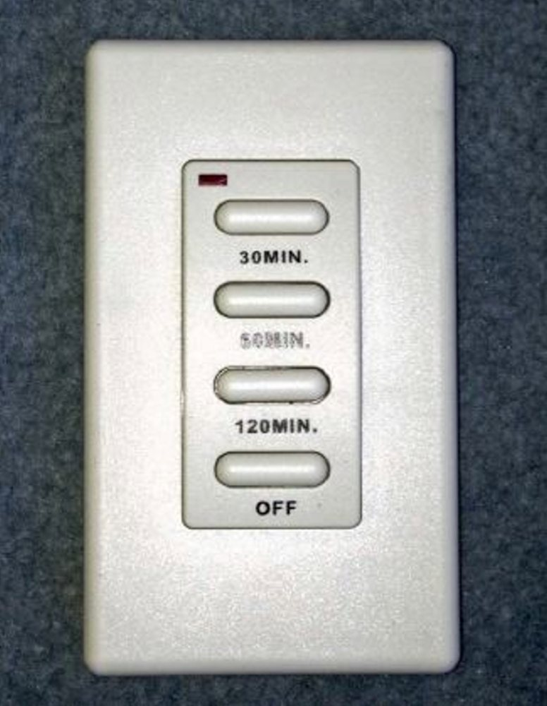 Sunpak-92007-TSR Wireless Wall Mounted Timer  White Wall Mounted Timer