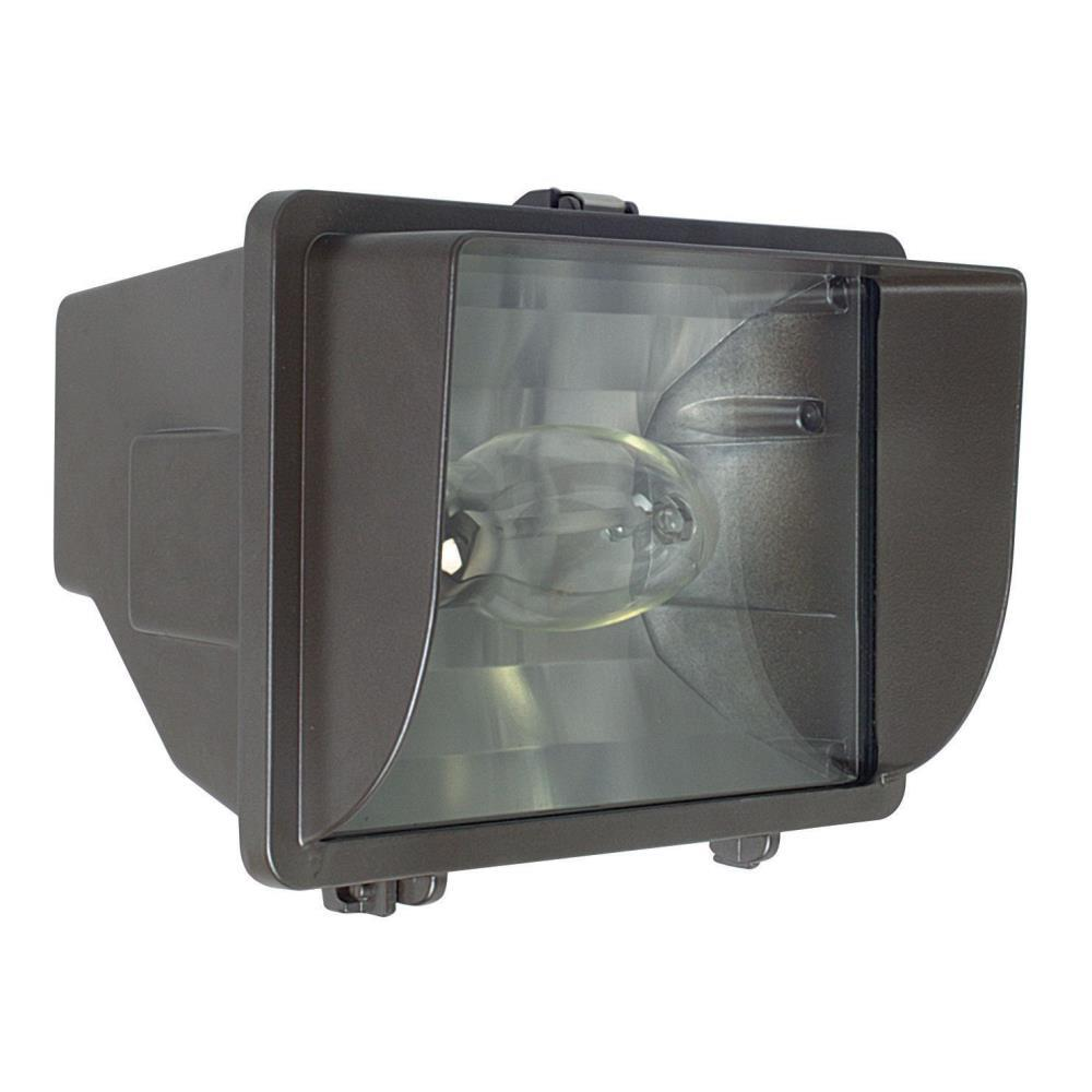 One Light Outdoor Flood with Glare Shield