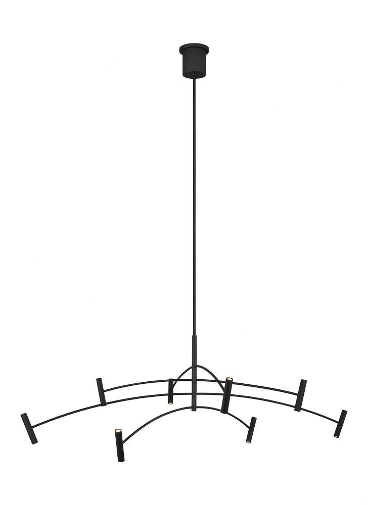 """Tech Lighting-700ARL60B-LED930-Aerial - LED Chandelier Matte Black Finish Integrated LED 90 CRI 3000k 120V60"""" Diameter"""