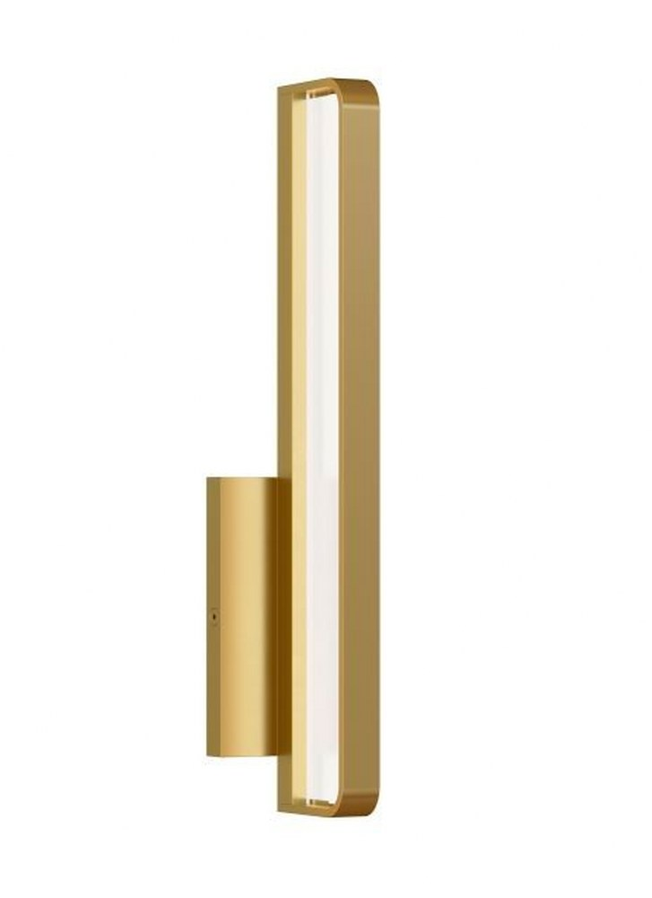 "Tech Lighting-700BCBND13NB-LED930-Banda - LED Bath Vanity Natural Brass Finish Integrated LED 90 CRI 3000k 120V13"" Length"