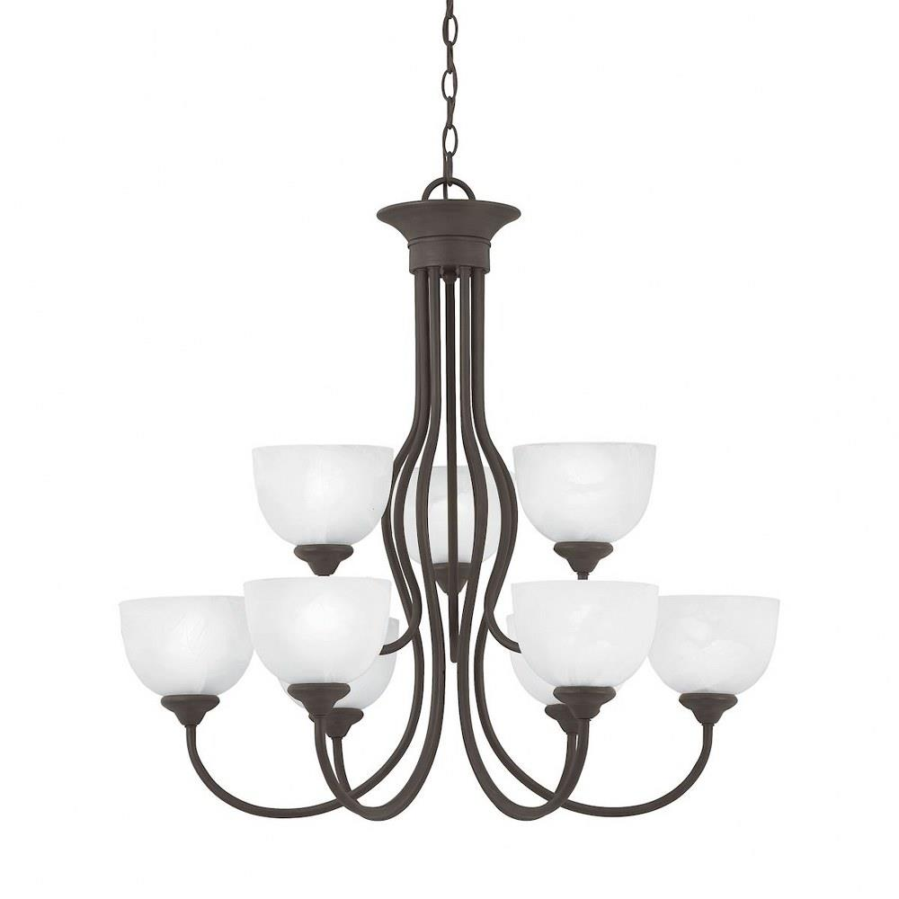 Tahoe Nine Light 2 Tier Chandelier