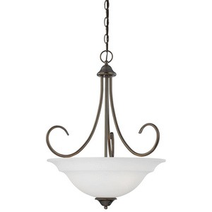 Thomas Lighting-SL891715-Bella - Three Light Pendant  Oiled Bronze Finish with Etched Glass