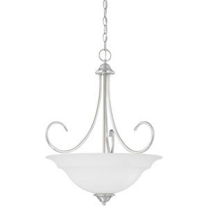 Thomas Lighting-SL891778-Bella - Three Light Pendant  Brushed Nickel Finish with Etched Glass