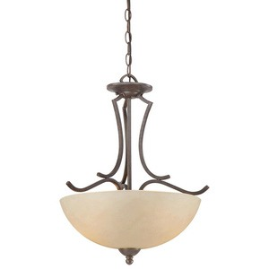 Thomas Lighting-SL893522-Triton - Two Light Pendant  Sable Bronze Finish with Tea-Stained Glass