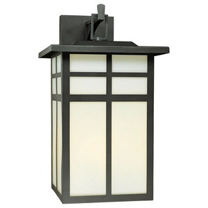 Thomas Lighting-SL91067-Mission - Three Light Outdoor Wall Lantern  Black Finish