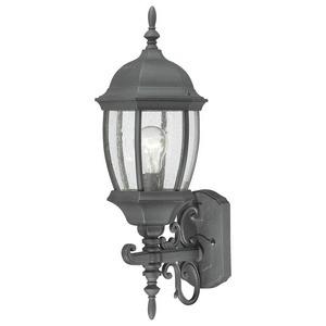Thomas Lighting-SL92257-Covington - One Light Outdoor Wall Lantern  Black Finish with Clear Seedy Glass
