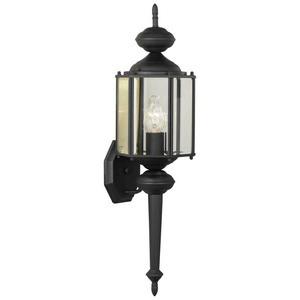 Thomas Lighting-SL92437-Brentwood - One Light Outdoor Wall Lantern  Black Finish