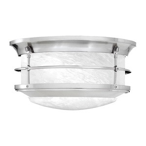 Thomas Lighting-SL928378-Two Light Flush Mount  Brushed Nickel Finish