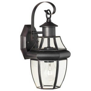 Thomas Lighting-SL941363-Heritage - One Light Outdoor Wall Lantern  Painted Bronze Finish with Clear beveled Glass