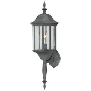 Thomas Lighting-SL94517-Hawthorne - One Light Outdoor Wall Lantern  Black Finish with Clear Seedy Glass