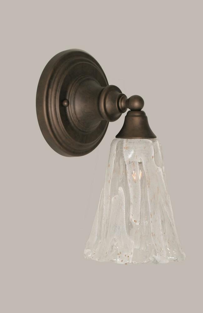 Toltec Lighting-40-BRZ-729-One Light Bronze Wall Sconce  Bronze Finish with Italian Ice Glass