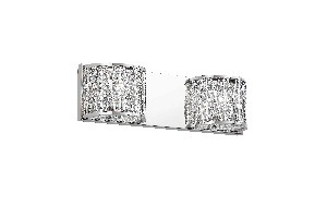 Trans Globe Lighting-MDN-1152-Woven - Two Light Wall Sconce  Polished Chrome Finish with Clear Crystal
