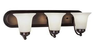 Trans Globe Lighting-PL-3503 BN-Morgan House - Three Light Bath Vanity  Brushed Nickel Finish with Marbleized Glass