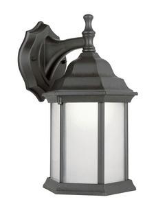 Trans Globe Lighting-PL-4349 RT-Templar - One Light Outdoor Coach Wall Lantern  Rust Finish with Alabaster Glass