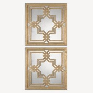 """Piazzale Squares - 19.75"""" Mirror (Set of 2)"""