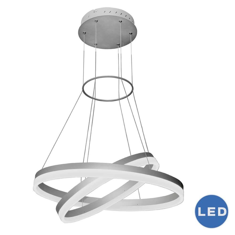 VONN LIGHTING-VMC31730AL-Tania Duo - 23.5 Inch 65W 1 LED 2-Tier Circular Chandelier  Silver Finish