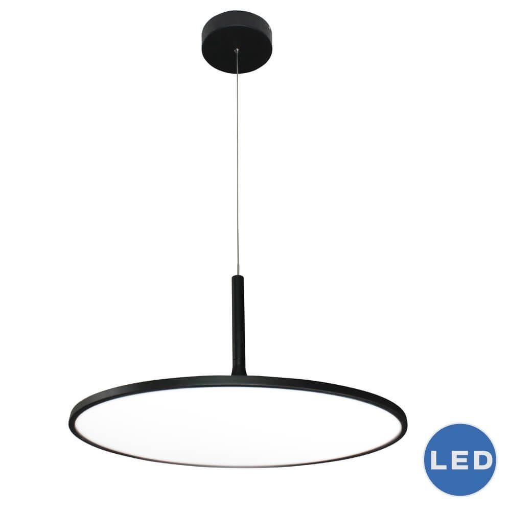 VONN LIGHTING-VMC31820BL-Salm - 24.06 Inch 45W 1 LED Disc Chandelier  Black Finish