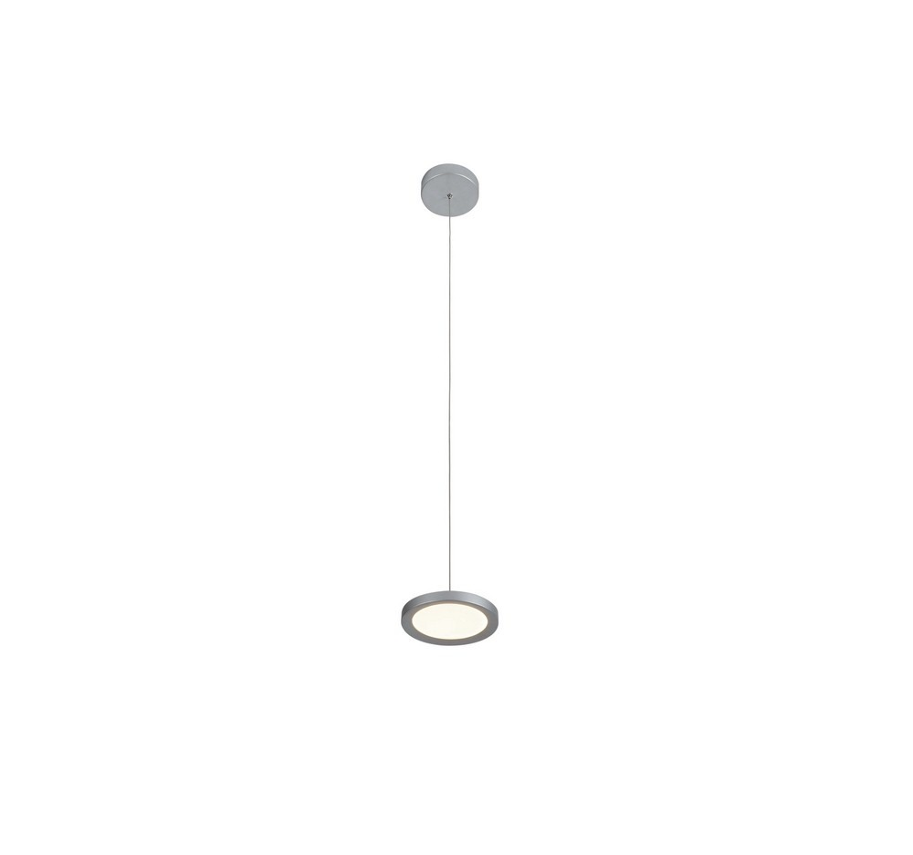 VONN LIGHTING-VMP22530AL-Salm - 6 Inch 11.5W LED Pendant  Silver Finish