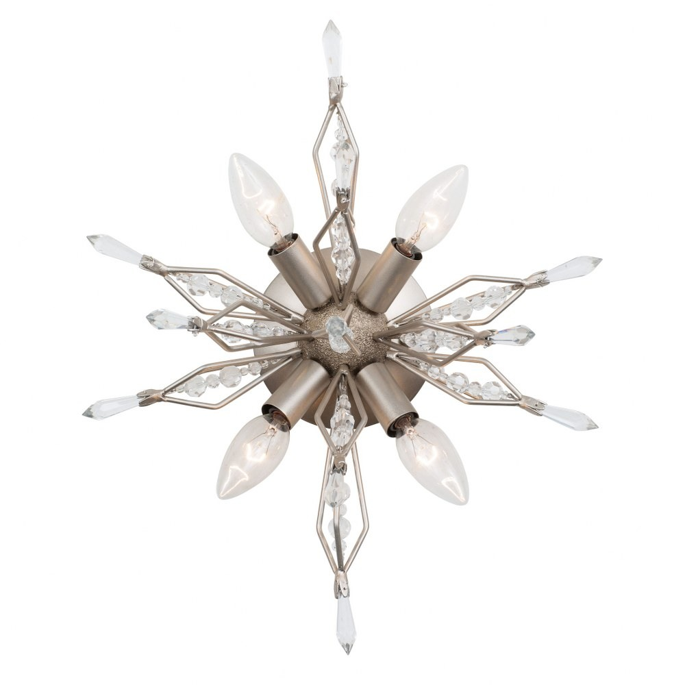 Varaluz Lighting-311W04GD-Orbital - Four Light Wall Sconce  Gold Dust Finish with Clear Premium Crystal