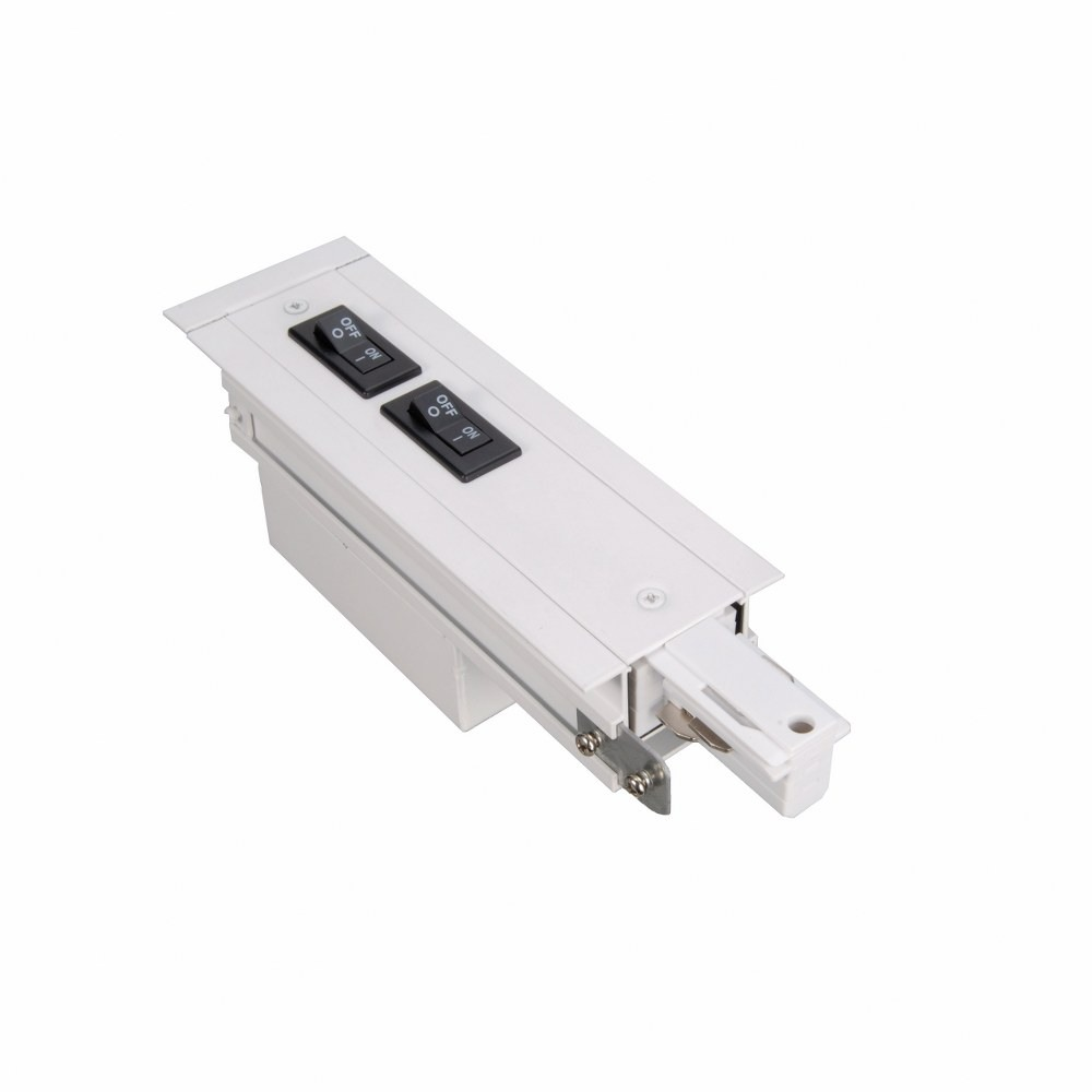 WAC Lighting-WEDR-RT-2A-WT-Accessory - 277V 2.5-Amp W2 Recessed Track Live End Right Flanged Current Limiter  White Finish