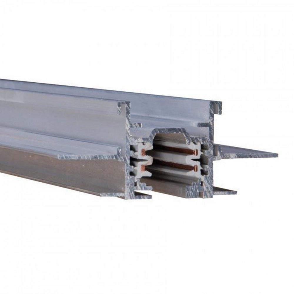 WAC Lighting-WT12-RTL-PT-Accessory - 144 Inch 120V Flangless 2-Circuit Recessed Track  Platinum Finish