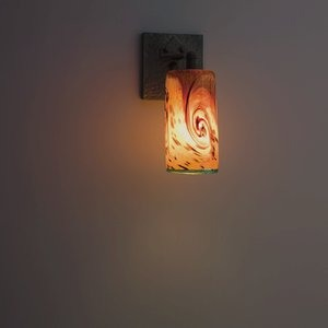 WPT Design-WH-CRFT-SC-Whitney - One Light Wall Sconce  Blacksmith Iron Finish