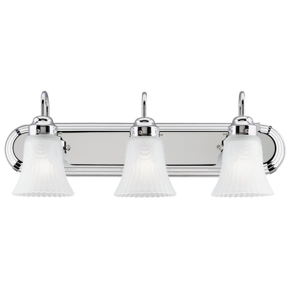 Westinghouse Lighting-6652200-Three Light Wall Sconce  Chrome Finish with Frosted Glass
