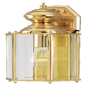 Westinghouse Lighting-6685300-One Light Wall Mount  Polished Brass Finish with Clear Beveled Glass