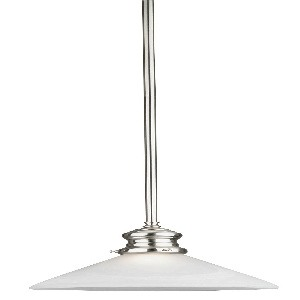 Westinghouse Lighting-6923100-Westinghouse Lighting Winchester One-Light Indoor Mini Pendant Brushed Nickel Finish with Frosted White Alabaster Glass  Brushed Nickel Finish with Frosted White Alabaster Glass
