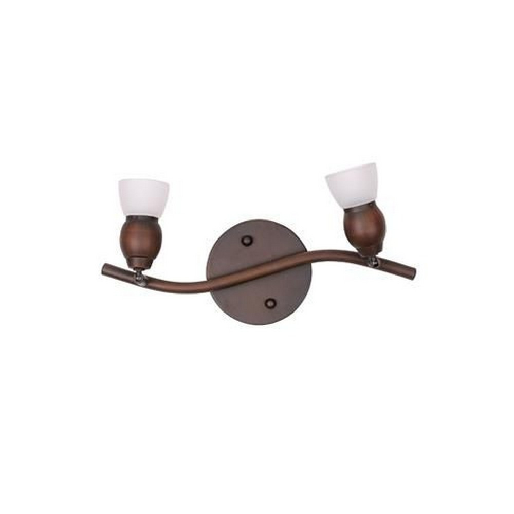 Whitfield Lighting-TP17-2ORB-Bently Fifteen-Inch Two-Light Track Light Oil Rubbed Bronze with White Glass  Oil Rubbed Bronze Finish with White Glass